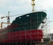 В Шанхае спустили на воду сверхбольшой контейнеровоз